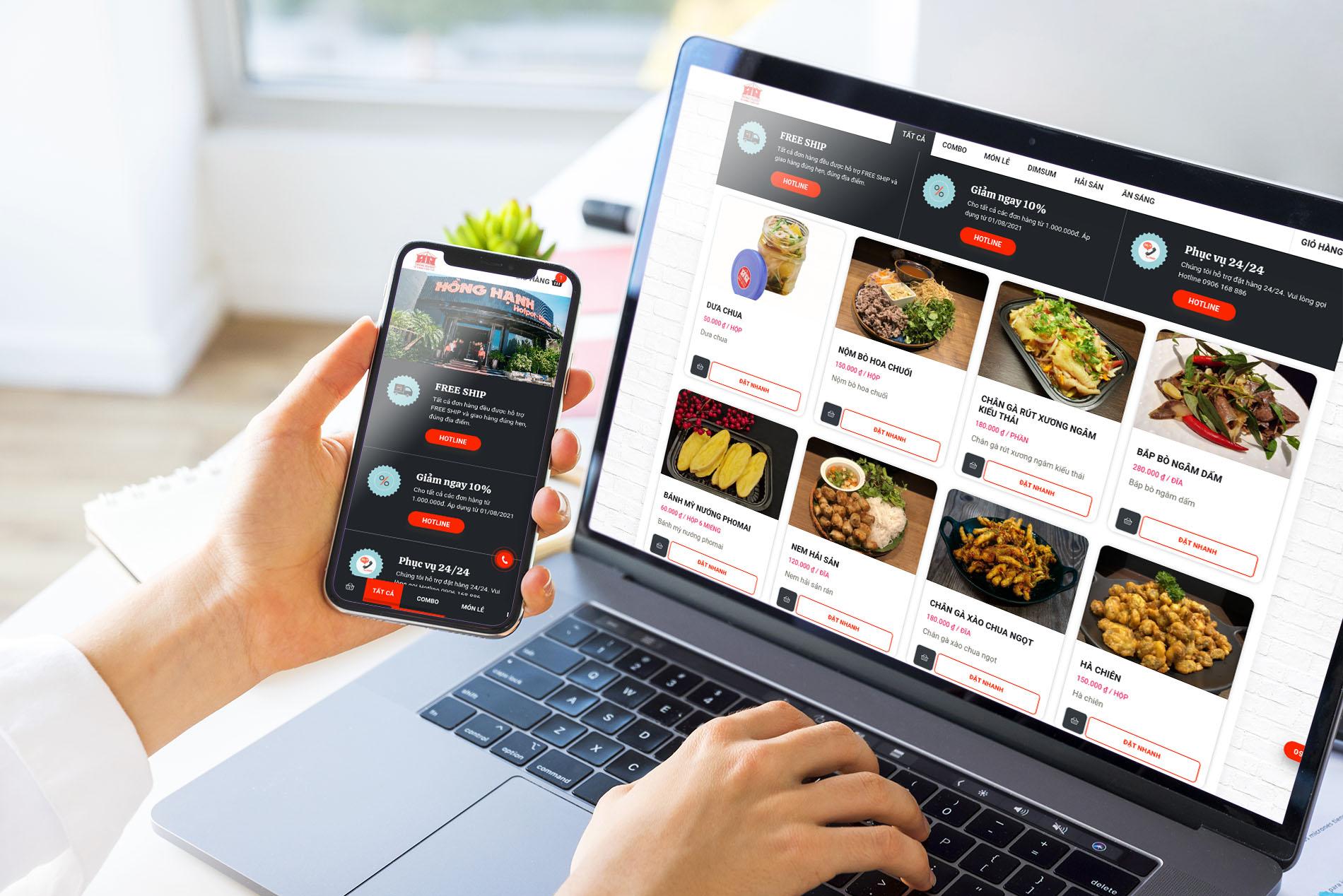 Đặt hàng trực tuyến - Nhà hàng Hồng Hạnh